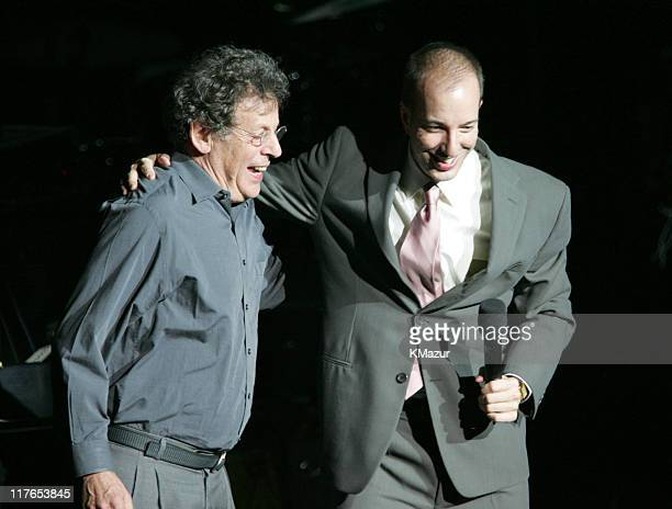 Philip Glass and Anthony Romero executive director of ACLU