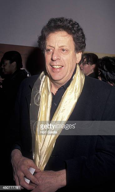 Philip Glass attends the world premiere of 'Kundun' on December 11 1997 at Loew's Astor Plaza Theater in New York City