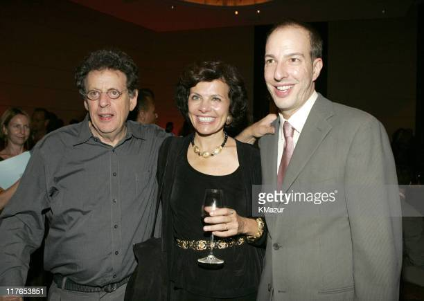Philip Glass Nadine Strossen president of ACLU and Anthony Romero executive director of ACLU