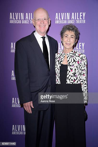 Philip Glassman and Patricia Glassman attend Alvin Ailey American Dance Theater Opening Night Gala Benefit 'An Evening of Ailey and Jazz' at New York...