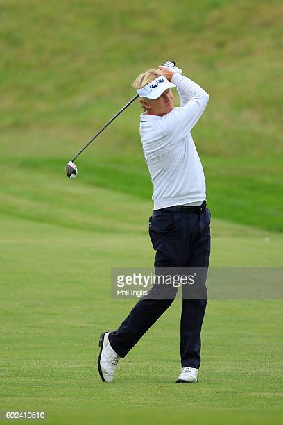Philip Golding of England in action during the final round of the Paris Legends Championship played on L'Albatros Course at Le Golf National on...