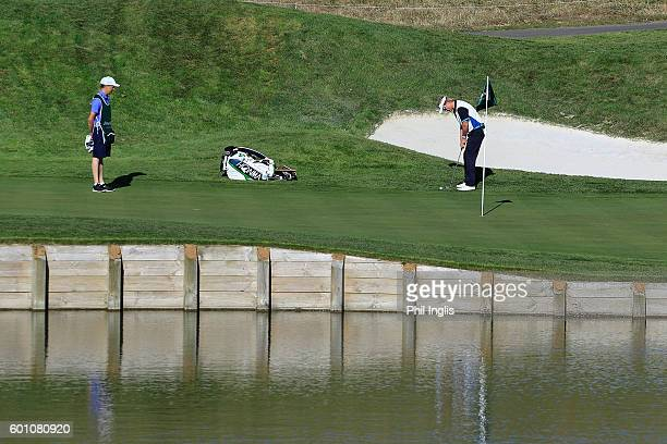 Philip Golding of England in action during the first round of the Paris Legends Championship played on L'Albatros course at Le Golf National on...
