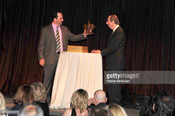 Philip Gourevitch and Philip Roth attend PARIS REVIEW BOARD OF DIRECTORS REVEL 2010 at Cipriani on April 13 2010 in New York City