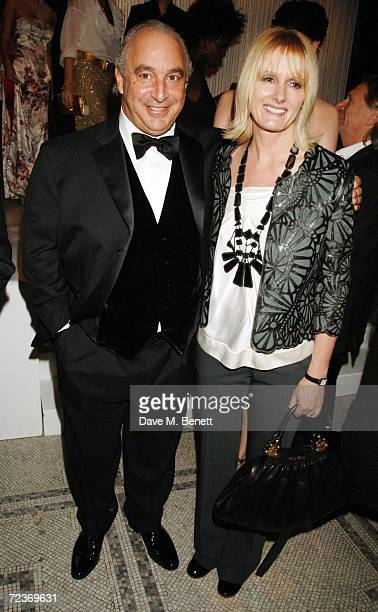 Philip Green and Jane Shepherdson, former director of Topshop attend the British Fashion Awards, at the Victoria & Albert Museum on November 2, 2006...