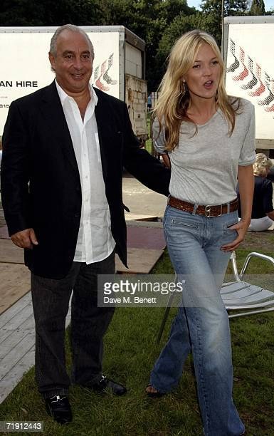 Philip Green and model Kate Moss attend the Topshop fashion show with reception drinks and catwalk show to unveil Unique's spring/summer collection...