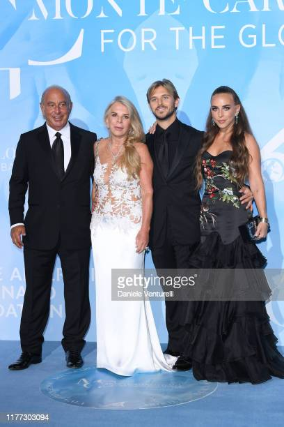 Philip Green Cristina Green Brandon Green and Chloe Green attend the Gala for the Global Ocean hosted by HSH Prince Albert II of Monaco at Opera of...