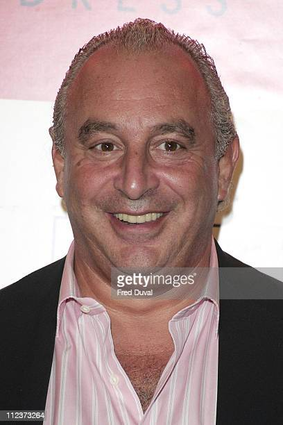 Philip Green director of Arcadia Group and BHS during Dress to Impress Oxford Street Celebration October 1 2005 at Oxford Street in London Great...