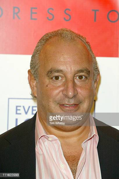 Philip Green during Dress to Impress - Oxford Street Celebration - October 1, 2005 at Selfridges, Oxford Street in London, Great Britain.