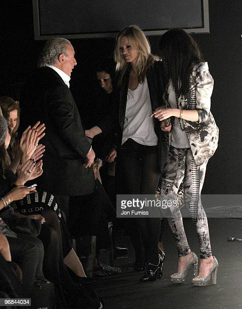 Philip Green Kate Moss and Annabel Nielsen at the Fashion for Relief show for London Fashion Week Autumn/Winter 2010 at Somerset House on February 18...