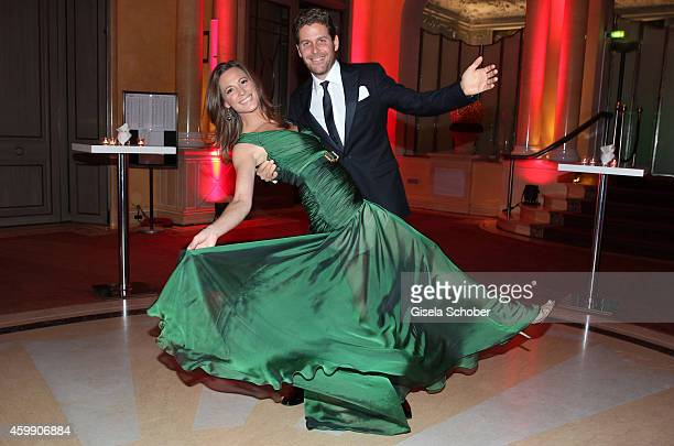 Philip Greffenius and his wife Evelyn during the Audi Generation Award 2014 at Hotel Bayerischer Hof on December 3 2014 in Munich Germany