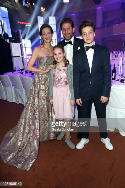 Philip Greffenius and his wife Evelyn Greffenius and their children daughter Olivia Greffenius and son Luke Greffenius during the Audi Generation...