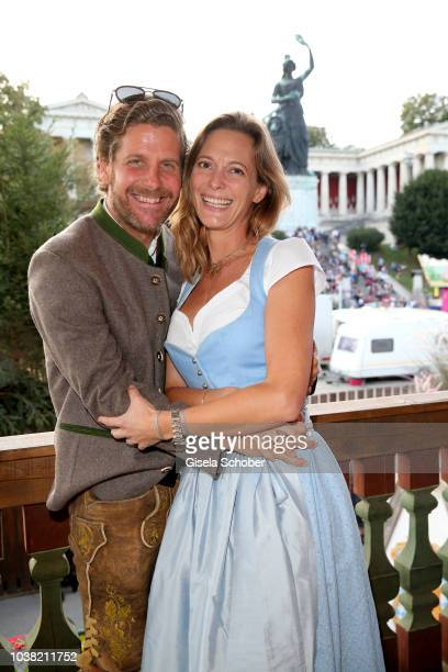 Philip Greffenius and his wife Evelyn Greffenius during the Oktoberfest 2018 opening at Theresienwiese at Kaeferschaenke on September 22 2018 in...