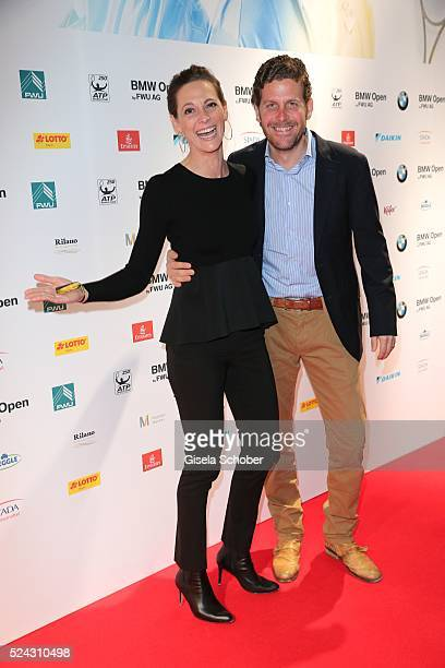 Philip Greffenius and his wife Evelyn Greffenius during the Players Night of the BMW Open 2016 tennis tournament at Iphitos tennis club on April 25...
