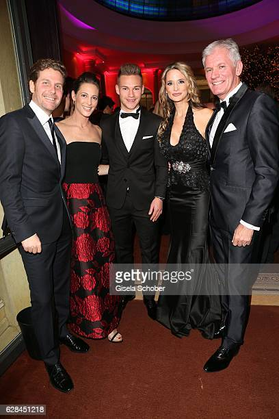 Philip Greffenius and his wife Evelyn Greffenius Joshua Kimmich FC Bayern Muenchen soccer player and Alexander Schuhmacher AUDI and his wife Stefanie...