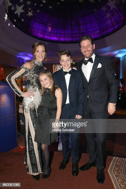 Philip Greffenius and his wife Evelyn Greffenius with their daughter Olivia Greffenius and son Luke Greffenius during the Audi Generation Award 2017...