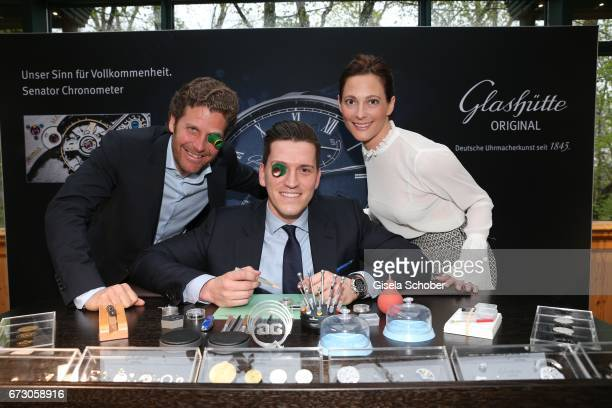 Philip Greffenius Edition Sportiva and his wife Evelyn Greffenius with Peter Leuschner Brand Manager Deutschland Glashuette Original during the piano...