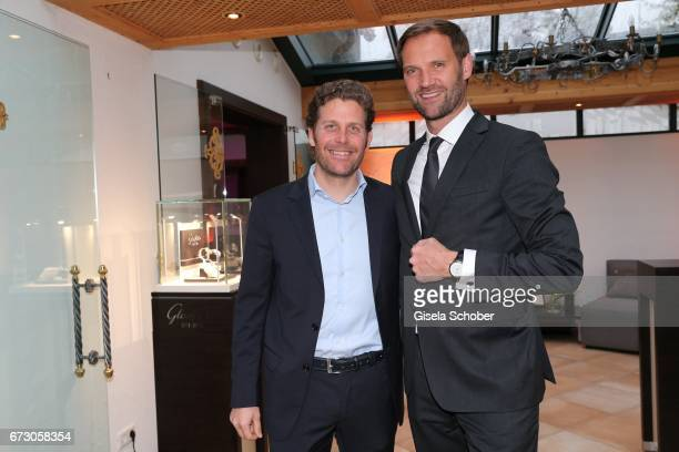 Philip Greffenius Edition Sportiva and Marc Autmaring during the piano night hosted by Wempe and Glashuette Original at Gruenwalder Einkehr on April...
