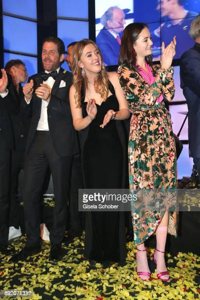 Philip Greffenius GinaMaria Schumacher daughter of of Michael Schumacher and Lea van Acken during the Audi Generation Award 2017 at Hotel Bayerischer...