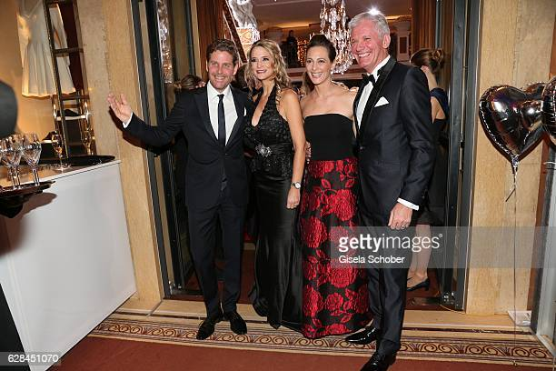 Philip Greffenius Stefanie Schuhmacher Evelyn Greffenius and Alexander Schuhmacher Audi during the 10th Audi Generation Award 2016 at Hotel...