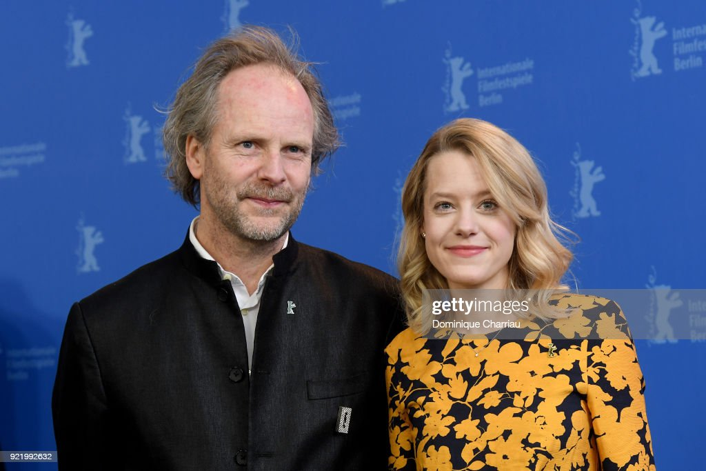 Philip Groening and Julia Zange pose at the 'My Brother's Name is Robert and He is an Idiot' (Mein Bruder heisst Robert und ist ein Idiot) photo call during the 68th Berlinale International Film Festival Berlin at Grand Hyatt Hotel on February 21, 2018 in Berlin, Germany.