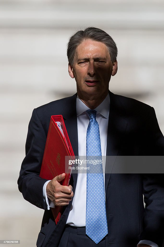 Philip Hammond, Secretary of State for Foreign and Commonwealth Affairs, arrives at Downing Street on June 30, 2015 in London, England. Prime Minister David Cameron will chair a meeting of Government cabinet members this this morning.