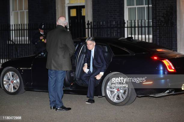Philip Hammond UK chancellor of the exchequer arrives at number 10 Downing Street in London UK on Thursday March 14 2019 UK Prime MinisterTheresa...