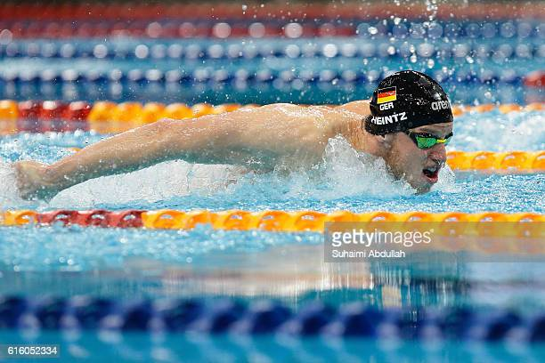 Philip Heintz of Germany competes in Men's Individual Medley 400m Final during the 2016 FINA Swimming World Cup at OCBC Aquatic Centre on October 21...