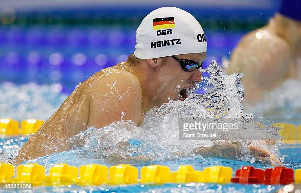 Philip Heintz of Germany competes in the men's 200m medley final during day 8 of the 32nd LEN European Swimming Championships 2014 at EuropaSportpark...