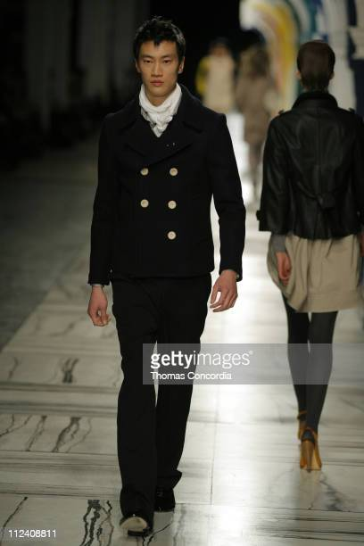 Philip Huang wearing 3.1 Phillip Lim Fall 2007 during Mercedes-Benz Fashion Week Fall 2007 - 3.1 Phillip Lim - Runway at Waterfront Building in New...