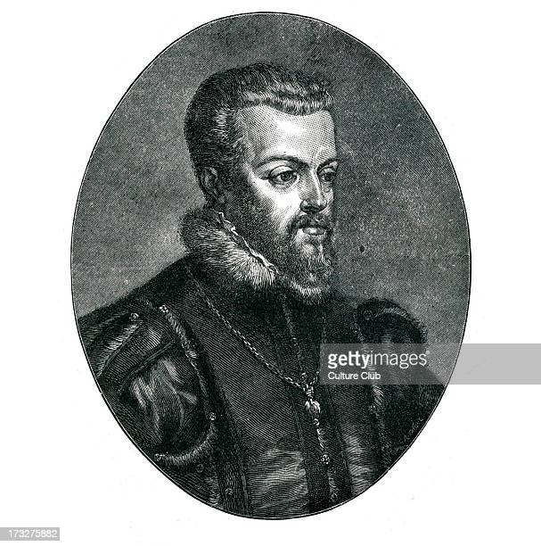 Philip II of Spain King of Spain Portugal Naples and Sicily Husband to Mary I of England 21 May 1527 – 13 September 1598 Portrait after Titian