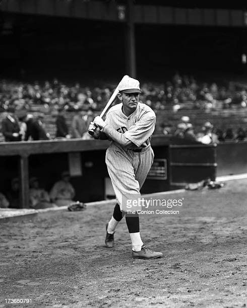 Philip J Todt of the Boston Red Sox swinging a bat in 1928