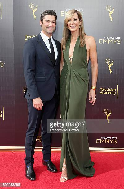 Philip Joncas and actress Allison Janney attend the 2016 Creative Arts Emmy Awards at Microsoft Theater on September 10 2016 in Los Angeles California