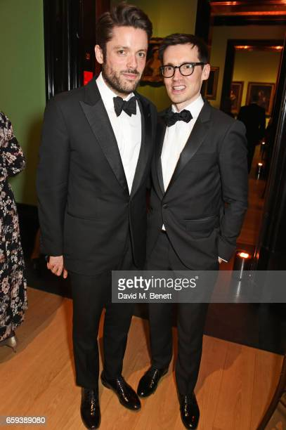 Philip Joseph and Erdem Moralioglu attend the Portrait Gala 2017 sponsored by William Son at the National Portrait Gallery on March 28 2017 in London...