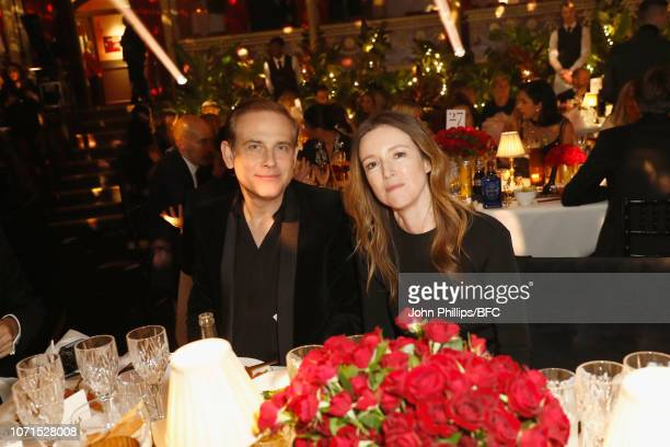 Philip Keller and Clare Waight Keller attend The Fashion Awards 2018 In Partnership With Swarovski at Royal Albert Hall on December 10 2018 in London...