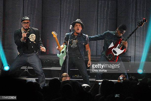 Philip Lawrence Bruno Mars and Jamareo Artis perform at The Fox Theatre on May 10 2011 in Atlanta Georgia