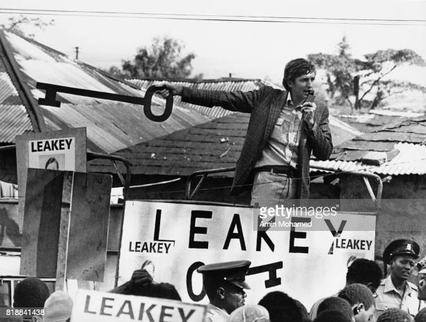 Philip Leakey during his successful campaign as the MP for Langata Nairobi County Kenya 1979 He is the son of renowned palaeontologist Louis Leakey