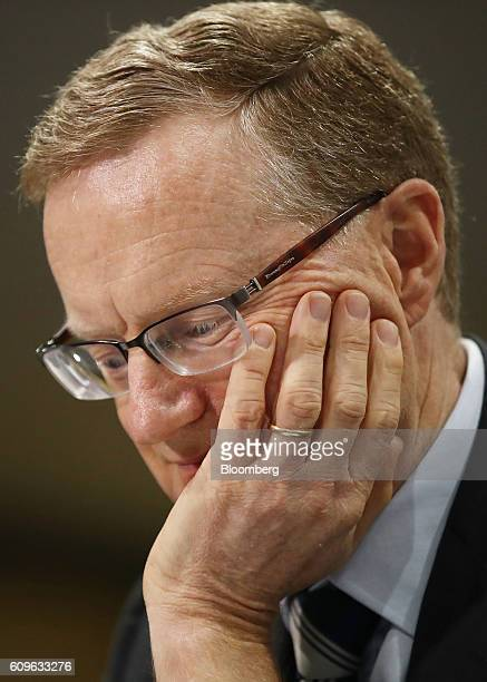 Philip Lowe governor of the Reserve Bank of Australia attends a hearing before the House of Representatives economics committee in Sydney Australia...