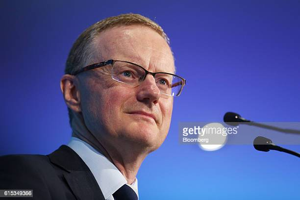 Philip Lowe governor of the Reserve Bank of Australia pauses during a speech at the Citigroup Inc Annual Australian New Zealand Investment Conference...