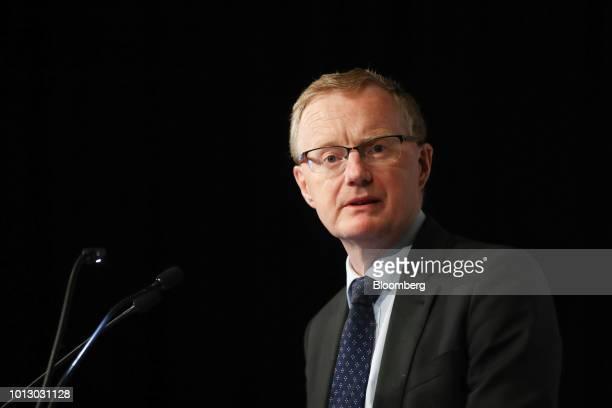 Philip Lowe governor of the Reserve Bank of Australia speaks at an event organized by The Anika Foundation in Sydney Australia on Wednesday Aug 8...