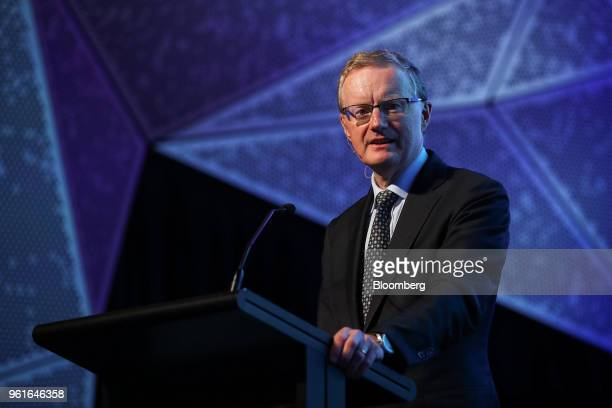Philip Lowe governor of the Reserve Bank of Australia speaks at an event organized by the AustraliaChina Relations Institute in Sydney Australia on...