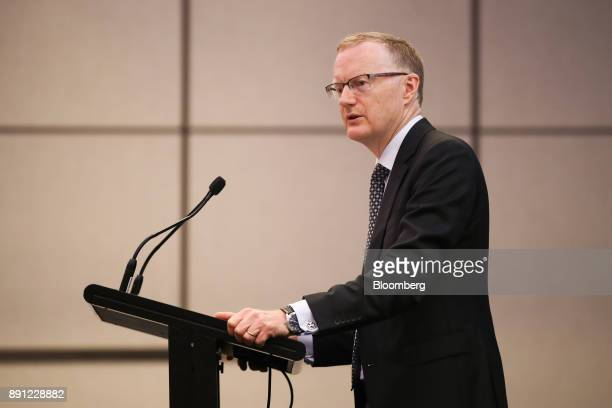 Philip Lowe governor of the Reserve Bank of Australia speaks at the Australian Payment Summit in Sydney Australia on Wednesday Dec 13 2017 Australias...