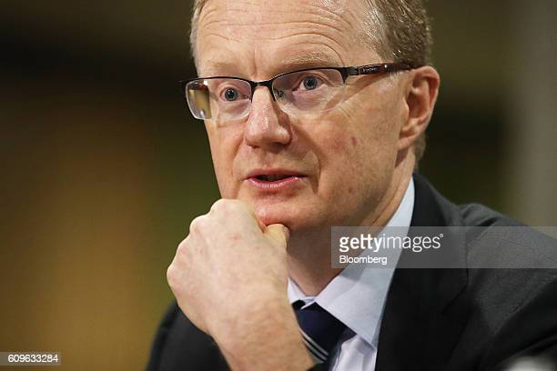 Philip Lowe governor of the Reserve Bank of Australia speaks during a hearing before the House of Representatives economics committee in Sydney...