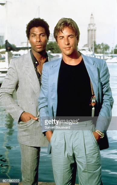 Philip Michael Thomas and Don Johnson in Miami Vice
