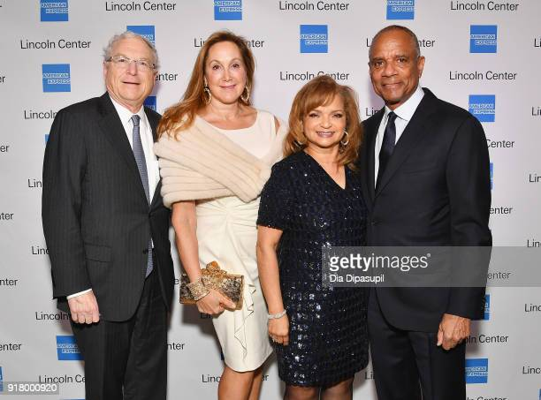 Philip Milstein Cheryl Milstein Kathryn Chenault and Kenneth I Chenault attend the Winter Gala at Lincoln Center at Alice Tully Hall on February 13...