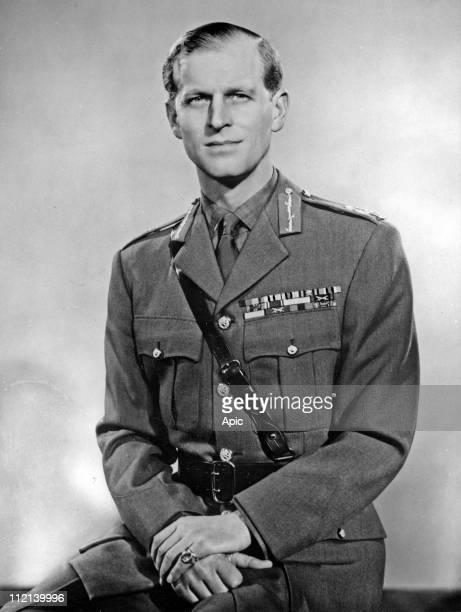 Philip Mountbatten duke of Edinburgh, wearing his uniform of Field Marshal of the British Army, 1953.
