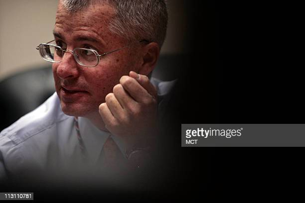 Philip Mudd deputy chief of the FBI's counterrorism branch in his office at FBI headquarters December 13 in Washington DC