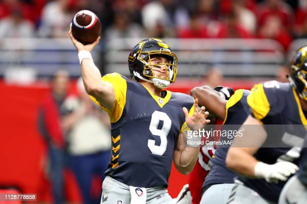 Philip Nelson of the San Diego Fleet throws a pass during the second half against the the San Antonio Commanders in an Alliance of American Football...