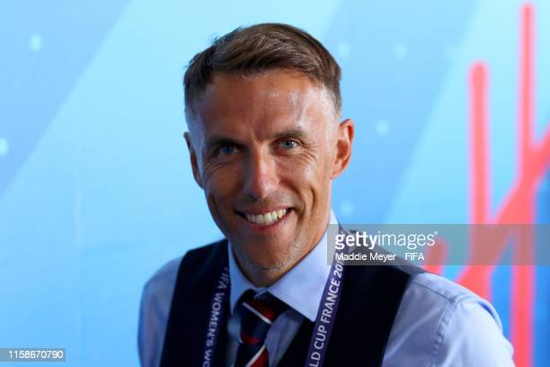 Philip Neville Head Coach of England arrives at the stadium prior to the 2019 FIFA Women's World Cup France Quarter Final match between Norway and...