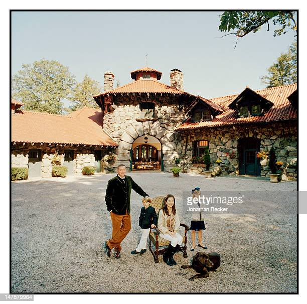 Philip, Nicholas, Gail and Sophia Lobkowicz are photographed for Town & Country Magazine on September 8, 2011 at home in Tuxedo Park, New York....