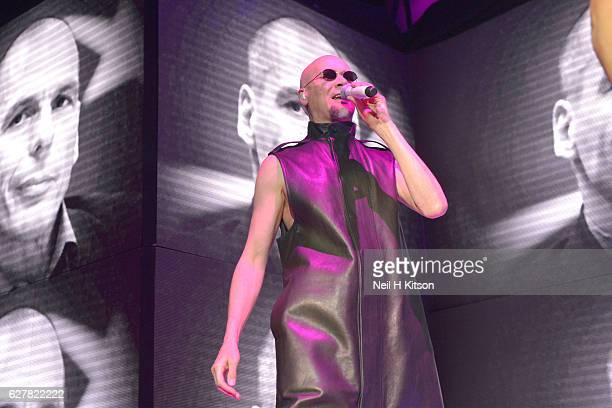 Philip Oakey of The Human League perform at Sheffield Arena on December 3 2016 in Sheffield England